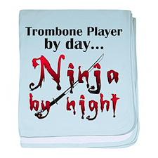Trombone Ninja baby blanket