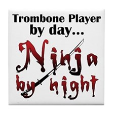 Trombone Ninja Tile Coaster