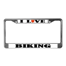 Biking License Plate Frame (I Heart)