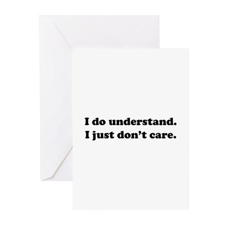 I do understand. Greeting Cards (Pk of 10)