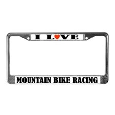 Mountain Bike Racing License Plate Frame