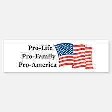 Pro-America Bumper Bumper Bumper Sticker