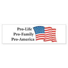 Pro-America Bumper Bumper Sticker