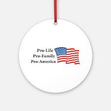Pro-America Ornament (Round)