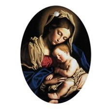 Madonna and child Ornament (Oval)