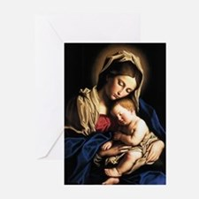 Madonna and child Greeting Cards (Pk of 20)