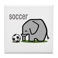 Soccer Elephant (2) Tile Coaster