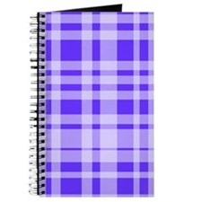 Uneven Plaid in Blue Journal