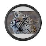 Leopard Portrait Large Wall Clock