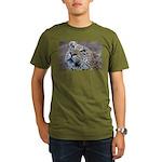 Leopard Portrait Organic Men's T-Shirt (dark)