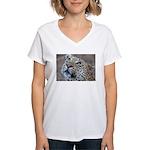 Leopard Portrait Women's V-Neck T-Shirt