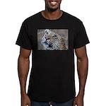 Leopard Portrait Men's Fitted T-Shirt (dark)