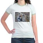 Leopard Portrait Jr. Ringer T-Shirt