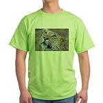 Leopard Portrait Green T-Shirt