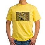 Leopard Portrait Yellow T-Shirt