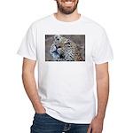 Leopard Portrait White T-Shirt