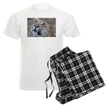Leopard Portrait Men's Light Pajamas