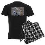 Leopard Portrait Men's Dark Pajamas