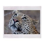 Leopard Portrait Throw Blanket