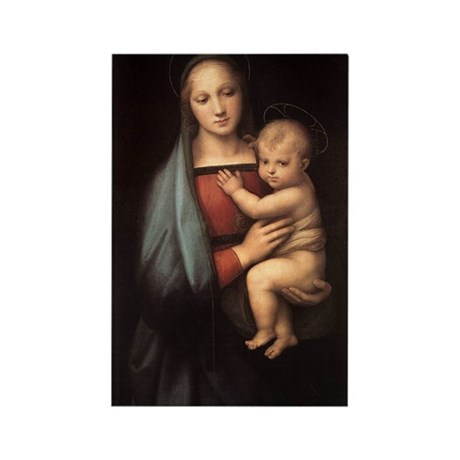 Madonna and child Rectangle Magnet