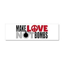 Love Peace Car Magnet 10 x 3