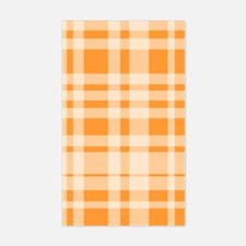 Uneven Plaid in Orange Rectangle Decal