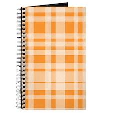 Uneven Plaid in Orange Journal