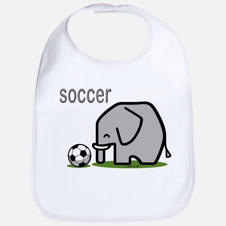 Soccer Elephant (2) Cotton Baby Bib