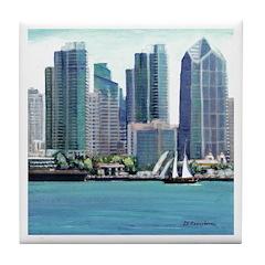 San Diego Waterfront Tile Coaster