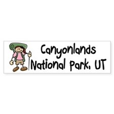 Hike Canyonlands (Girl) Bumper Sticker