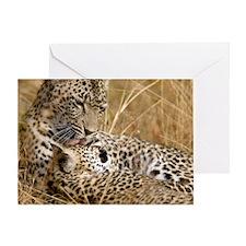 Karula and Male Cub Greeting Card