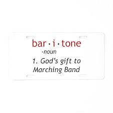 Definition of a Baritone Aluminum License Plate