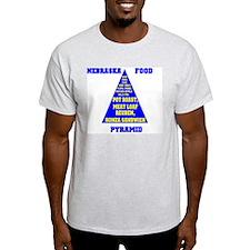 Nebraska Food Pyramid T-Shirt