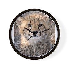 Cheetah Cub Wall Clock