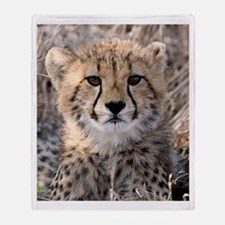 Cheetah Cub Throw Blanket