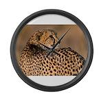 Cheetah Large Wall Clock
