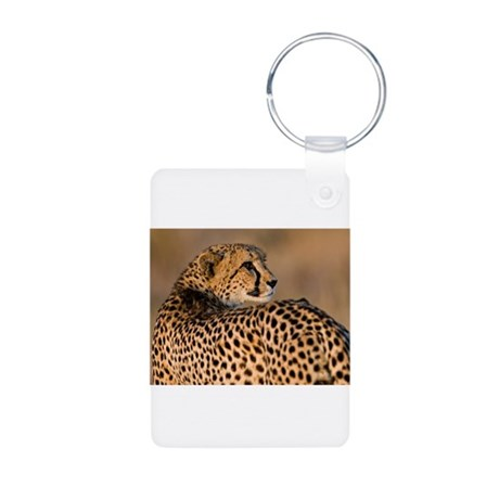 Cheetah Aluminum Photo Keychain