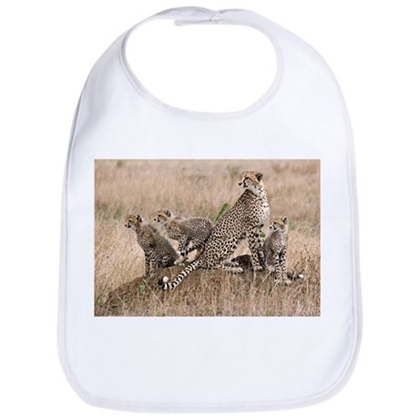 Cheetah Family Bib