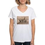 Cheetah Family Women's V-Neck T-Shirt