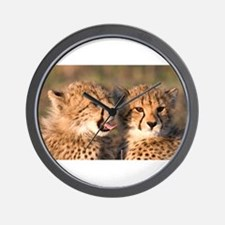 Cheetah cubs Wall Clock