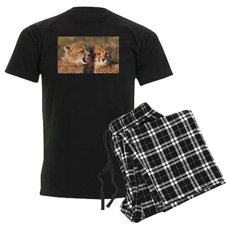 Cheetah cubs Men's Dark Pajamas