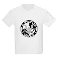 Build Fence US Border Patrol Kids T-Shirt