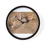 Cheetah On The Move Wall Clock