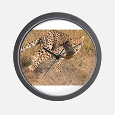 Cheetah On The Move Wall Clock
