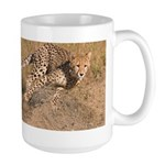 Cheetah On The Move Large Mug