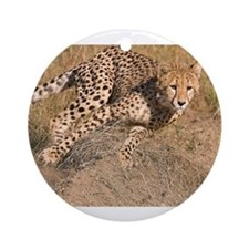 Cheetah On The Move Ornament (Round)
