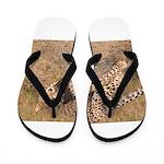 Cheetah On The Move Flip Flops