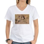 Cheetah On The Move Women's V-Neck T-Shirt