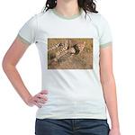 Cheetah On The Move Jr. Ringer T-Shirt