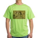 Cheetah On The Move Green T-Shirt